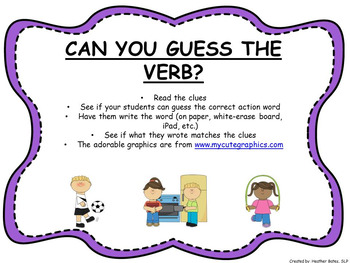 GUESS THE VERB Power Point