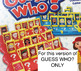 GUESS WHO? HALLOWEEN game inserts with YES/NO QUESTION VISUAL PAGE
