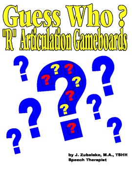 GUESS WHO? /R/ PICTURE ARTICULATION GAME BOARD INSERTS- Sp