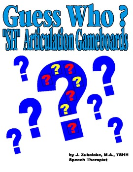 "GUESS WHO? ""SH"" PICTURE ARTICULATION GAME BOARD INSERTS-Speech Therapy"