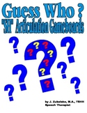 "GUESS WHO? ""SH"" PICTURE ARTICULATION GAME BOARD INSERTS-Sp"