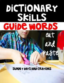 GUIDE WORDS CUT & PASTE  {NO PREP}