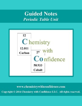 GUIDED NOTES - Periodic Table Unit