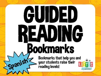GUIDED READING Bookmark - Spanish
