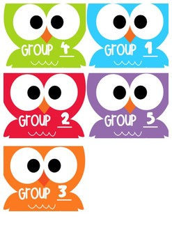 GUIDED READING GROUP OWLS