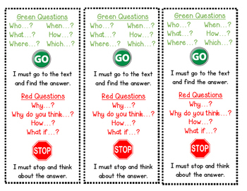 GUIDED READING-Green and Red Questions