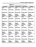 GUIDED READING PARENT LOG