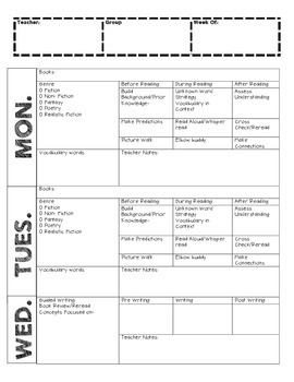 GUIDED READING PLANS