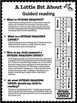 GUIDED READING Parent Letter FREEBIE - English & Spanish