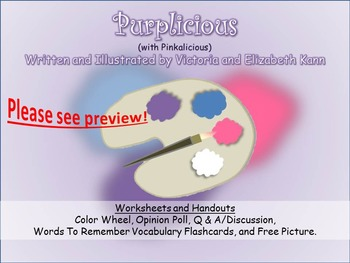 GUIDED READING: Purplicious (w/ Pinkalicious) - Worksheets, Handouts, Flashcards