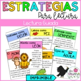 GUIDED READING STRATEGIES POSTERS IN SPANISH/ ESTRATEGIAS PARA LECTURA GUIADA