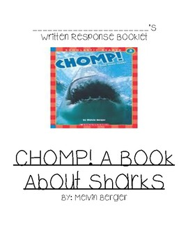 GUIDED READING  comp Writing for CHOMP! A Book About Sharks by Berger