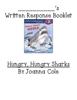 GUIDED READING compBOOKLET for Hungry, Hungry Sharks by Joanna Cole