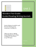 GUIDED WRITING JOURNALS for Unit 1 First Grade Wonders