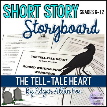 THE TELL-TALE HEART by E.A. Poe - GUIDED WRITING PRACTICE (storyboard)