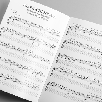 GUITAR: Beethoven's 'Moonlight' Sonata Arranged for the Classical Guitar w/  MP3