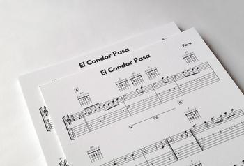 GUITAR: El Condor Pasa—Peru | Sheet Music & Tab w/ MP3