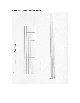 GUITAR & PIANO BLANK SHEET MUSIC