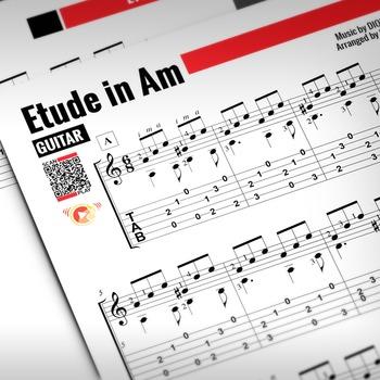 GUITAR SHEET MUSIC: Etude in A minor - Dionisio Aguado [Cl