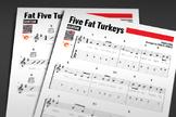 GUITAR SHEET MUSIC: Five Fat Turkeys w/ Performance Trax [Thanksgiving]