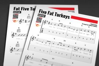 GUITAR SHEET MUSIC: Five Fat Turkeys w/ Performance Trax [