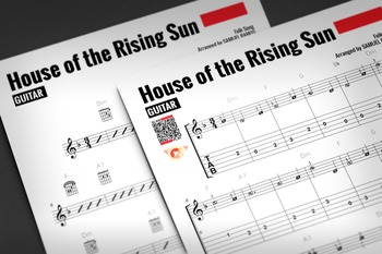 GUITAR SHEET MUSIC: House of the Rising Sun