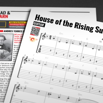GUITAR SHEET MUSIC: House of the Rising Sun