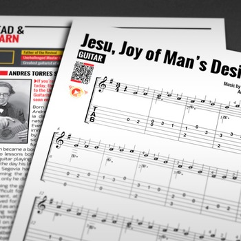 EASY GUITAR SHEET MUSIC: Jesu, Joy of Man's Desiring [J.S. Bach]