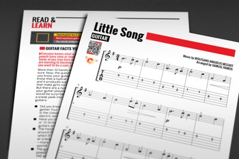 GUITAR SHEET MUSIC: Little Song - W.A. Mozart [Interactive PDF]