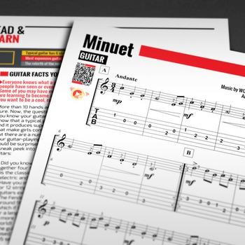 GUITAR SHEET MUSIC: Minuet - W.A. Mozart [Interactive PDF]