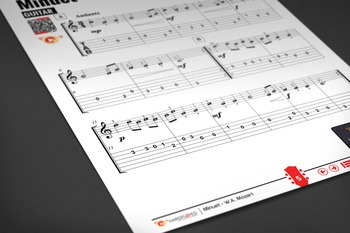 GUITAR SHEET MUSIC: Minuet - W.A. Mozart [Interactive PDF]