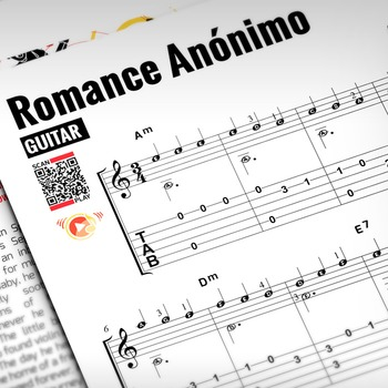 GUITAR SHEET MUSIC: Romance Anónimo [Interactive PDF]