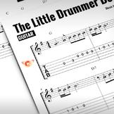 GUITAR SHEET MUSIC: The Little Drummer Boy (Christmas Tune)