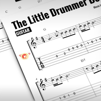 GUITAR SHEET MUSIC: The Little Drummer Boy (Christmas Tune)