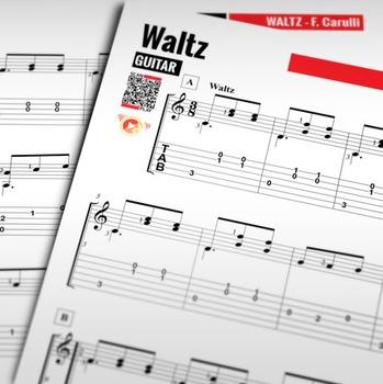 GUITAR SHEET MUSIC: Waltz - Fernando Caulli [Classical Guitar]