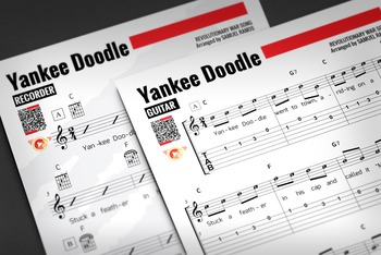 GUITAR SHEET MUSIC: Yankee Doodle w/ Performance Trax