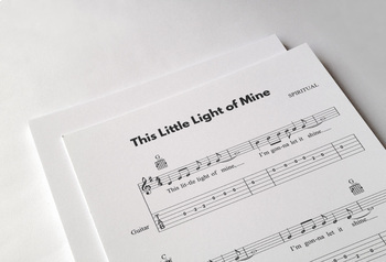 GUITAR: This Little Light of Mine | Interactive Music w/ Standard Notation, Tabs