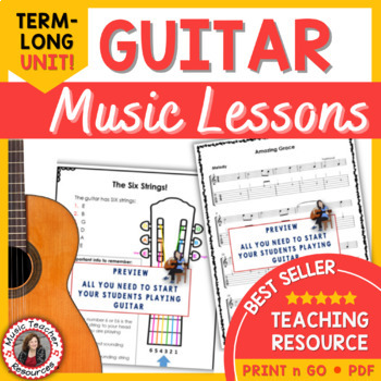 Beginning Guitar Music Lessons: GUITAR in the CLASSROOM: Melody