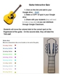 GUITAR interactive online quiz - Google Slides