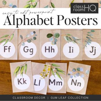 GUM LEAF Alphabet Posters - Easy To Edit
