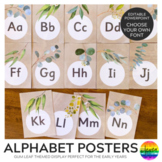 GUM LEAF Alphabet Posters - Easy To Edit
