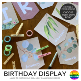 GUM LEAF Classroom Birthday Display