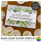 GUM LEAF Editable Classroom Door Display