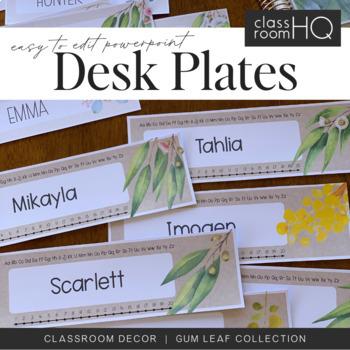 GUM LEAF Editable Desk Plates