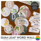 GUM LEAF Editable Word Wall Pack