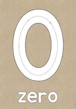 GUM LEAF Number Posters 0-20