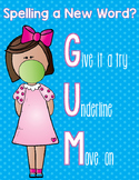 GUM Writing Poster (Spelling Poster)