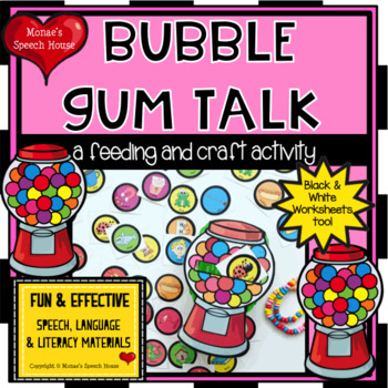 Bubblegum MACHINE FEEDING MOUTH SPEECH THERAPY LOW PREP NO PREP