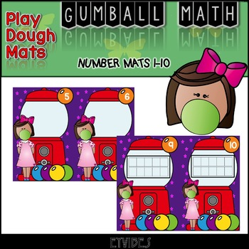 GUMBALL MATH 2 - Play Dough - Number Counting Mats 1 - 10