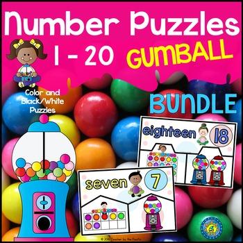 GUMBALL MATH: Number Puzzles 1 – 20 {BUNDLE}